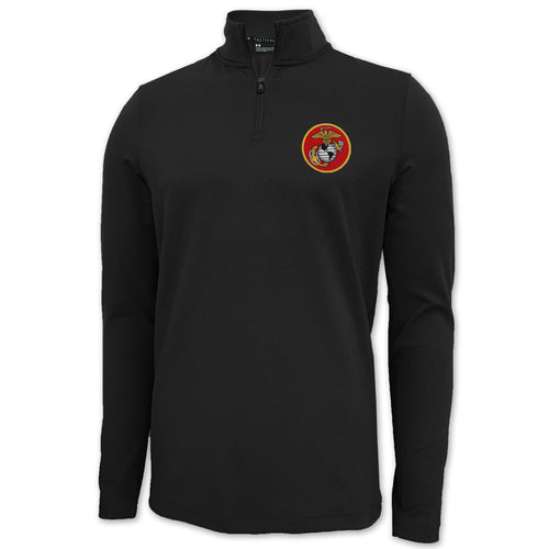 MARINES UNDER ARMOUR LIGHT WEIGHT 1/4 ZIP (BLACK)