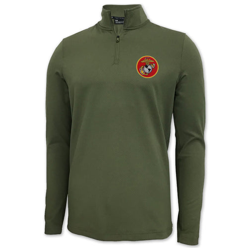 MARINES UNDER ARMOUR LIGHT WEIGHT 1/4 ZIP (OD GREEN)