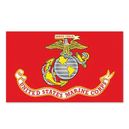 NEW MARINES STANDARD FLAG (3X5) 1