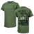 ONE SHOT ONE KILL NO LUCK ALL SKILL T-SHIRT (OD GREEN) 3