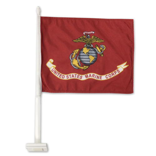 USMC 2 SIDED CAR FLAG (12