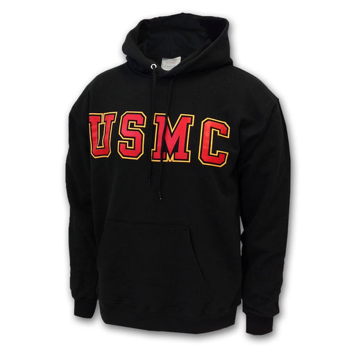 USMC BOLD BLOCK HOODED SWEATSHIRT 2