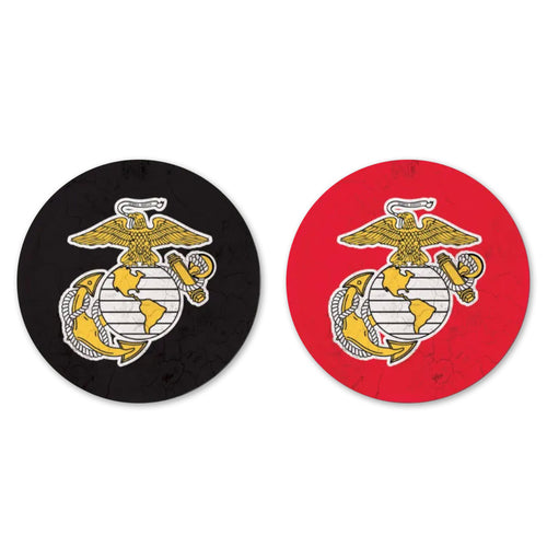 USMC THIRSTY CAR COASTER 2 PACK 1