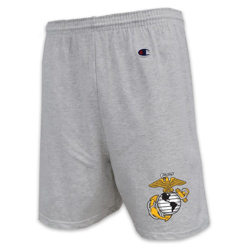 USMC CHAMPION EGA LOGO COTTON SHORT (GREY)