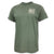 USMC DISTRESSED FLAG SEMPER FI T-SHIRT (HEATHER GREEN) 4