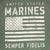 USMC DISTRESSED FLAG SEMPER FI T-SHIRT (HEATHER GREEN) 6