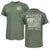 USMC DISTRESSED FLAG SEMPER FI T-SHIRT (HEATHER GREEN) 3