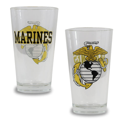 USMC EGA 16OZ GLASS 1
