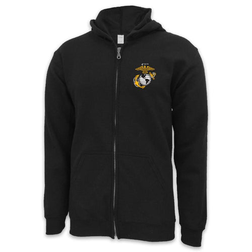 USMC EGA LOGO FULL ZIP (BLACK)