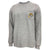 USMC EGA LOGO LONG SLEEVE POCKET T (GREY)