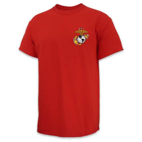 USMC EGA LOGO T-SHIRT (RED)