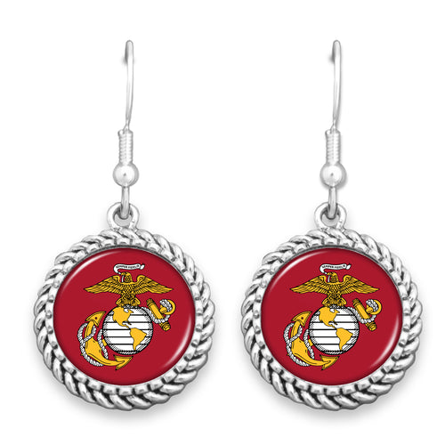 USMC EGA ROPE EDGE EARRINGS