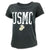 USMC LADIES DISTRESSED VINTAGE CUFF T-SHIRT (BLACK) 3