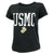 USMC LADIES DISTRESSED VINTAGE CUFF T-SHIRT (BLACK) 1