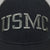 USMC LOW PROFILE SNAPBACK TRUCKER HAT (BLACK/GREY) 2