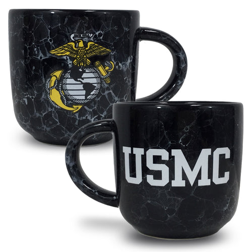 USMC MARBLED 17 OZ MUG (BLACK) 2