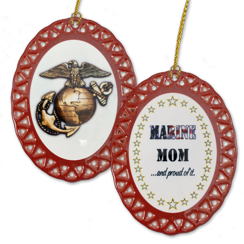 USMC PROUD MOM ORNAMENT 3