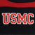 USMC RUGBY STRIPE BEANIE (BLACK/RED)