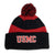 USMC RUGBY STRIPE BEANIE (BLACK/RED) 1