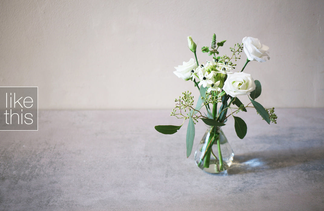 Pure White Mini Bouquet x 3