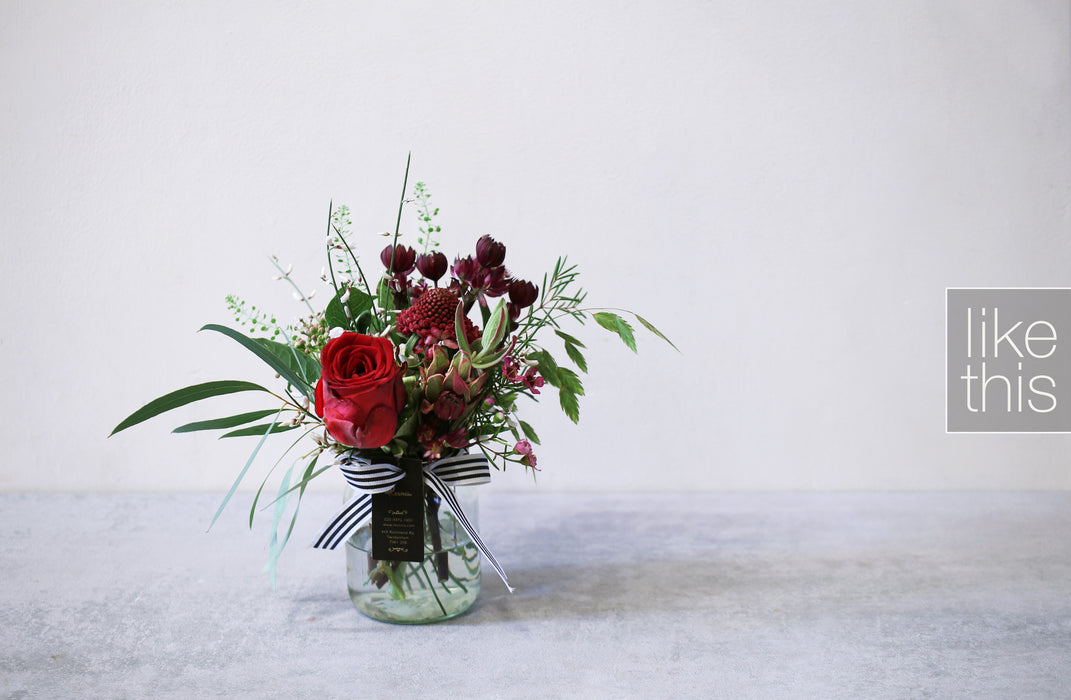 Natural Red Rose Arrangement