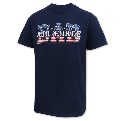 AIR FORCE DAD AMERICAN FLAG T-SHIRT (NAVY)