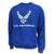 Air Force Wings Logo Crewneck (Royal)