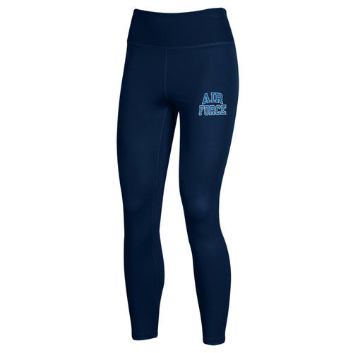 Air Force Ladies Under Armour High Waisted Leggings (Navy)