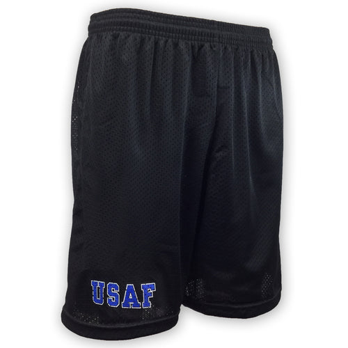 Air Force Athletic Pocket Mesh Shorts (Black)