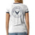 Air Force Ladies Burnout Ringer Tee (White/Navy)