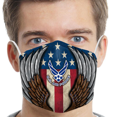 United States Air Force Eagle Wings Face Mask-Single or 3 Pack