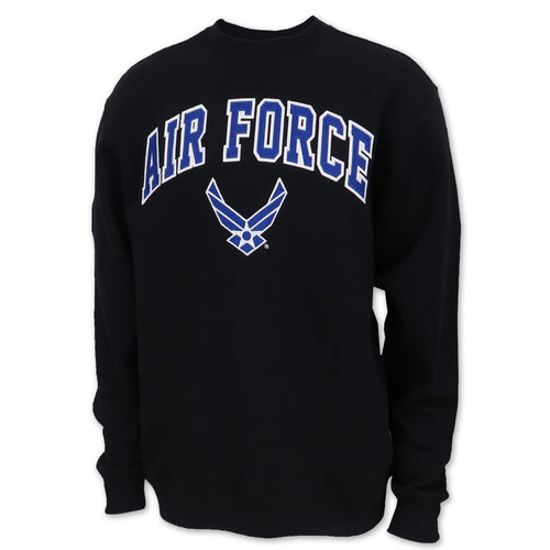 Air Force Wings Fleece Crewneck (Black)