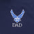 Air Force Wings Dad Under Armour Tech Polo (Navy)