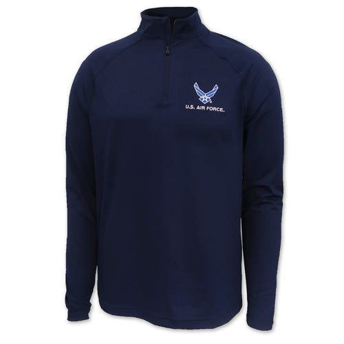 Air Force Wings Under Armour Performance 1/4 Zip (Navy)