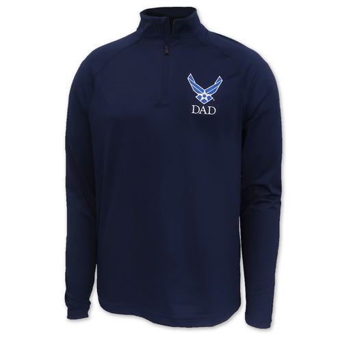 Air Force Wings Dad Under Armour Performance 1/4 Zip (Navy)