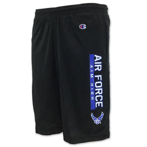 AIR FORCE CHAMPION AIM HIGH MESH SHORTS (BLACK) 6