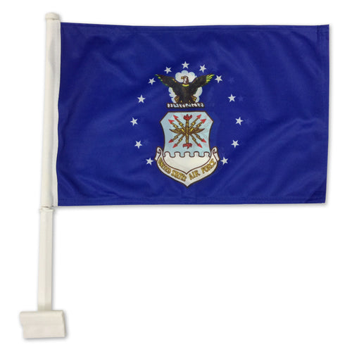 AIR FORCE 2 SIDED CAR FLAG (12
