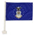 "AIR FORCE 2 SIDED CAR FLAG (12""X 18"")"