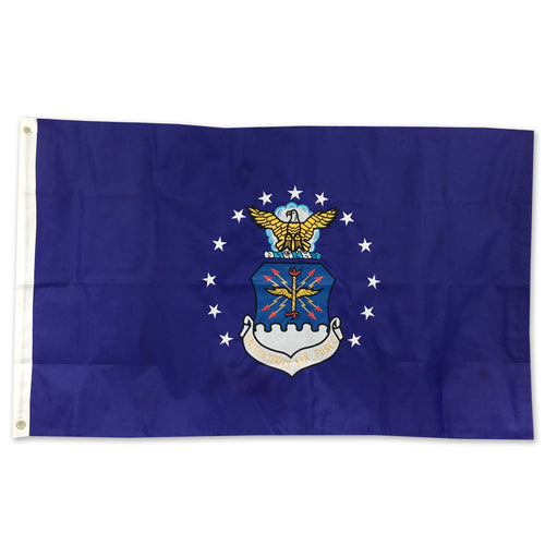 AIR FORCE 2 SIDED EMBROIDERED FLAG (3'X5')