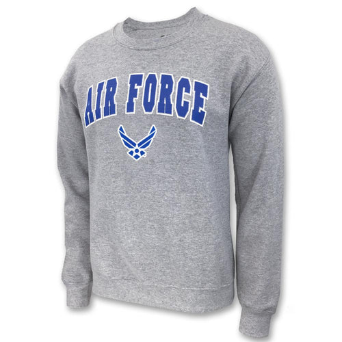 AIR FORCE ARCH WINGS CREWNECK (GREY) 1