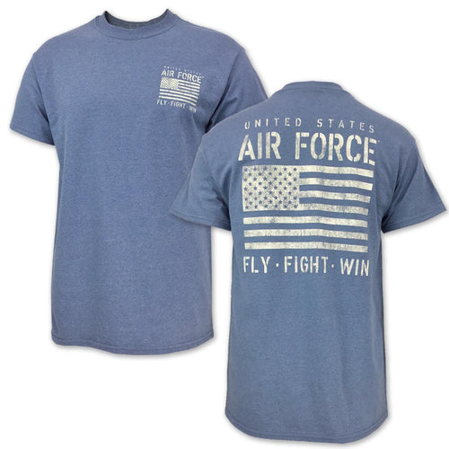 AIR FORCE DISTRESSED FLAG FLY FIGHT WIN T-SHIRT (BLUE) 3