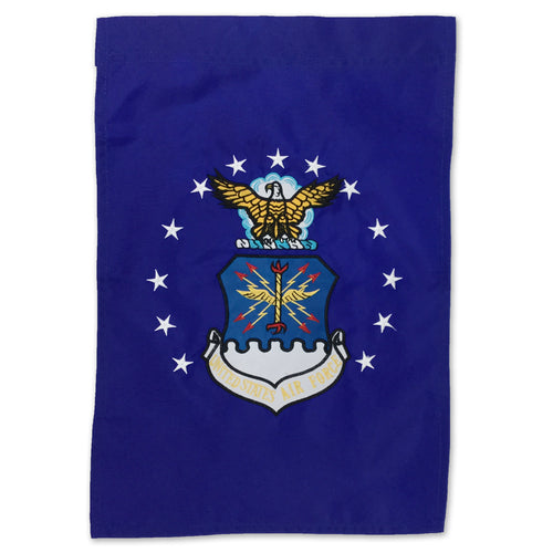 AIR FORCE EMBROIDERED GARDEN FLAG (12