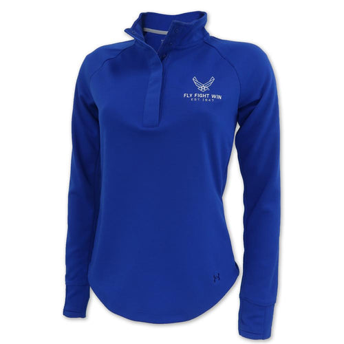 AIR FORCE LADIES DOUBLE KNIT JERSEY 1/4 SNAP (ROYAL) 1