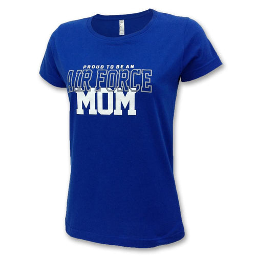 AIR FORCE LADIES PROUD MOM T-SHIRT (ROYAL) 4