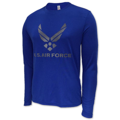 AIR FORCE LONG SLEEVE PERFORMANCE T (ROYAL)