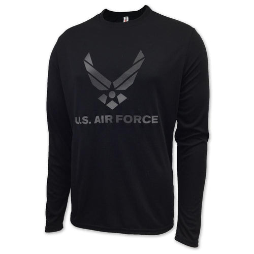 AIR FORCE LONGSLEEVE PERFORMANCE T (BLACK)