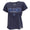 AIR FORCE MOM LADIES LOOSE FIT V-NECK T-SHIRT (NAVY) 1