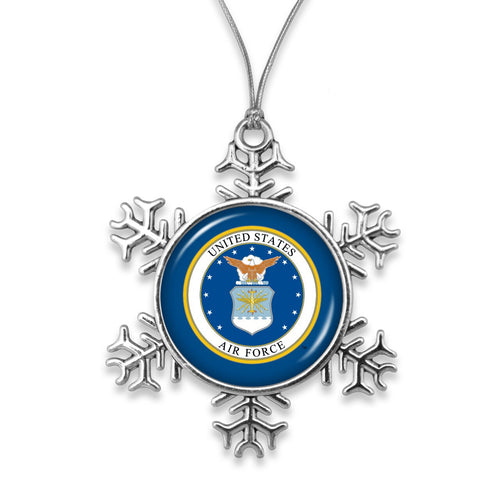 AIR FORCE SNOWFLAKE ORNAMENT 1