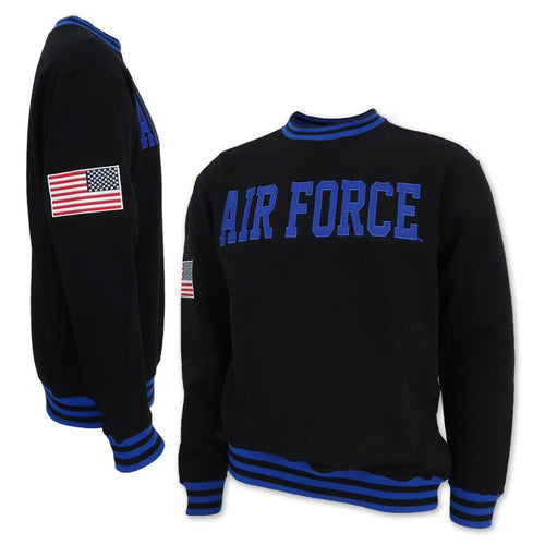 AIR FORCE TACKLE TWILL FLEECE CREWNECK (BLACK) 2