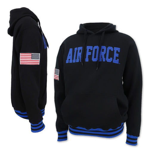 AIR FORCE TACKLE TWILL HOOD (BLACK) 1